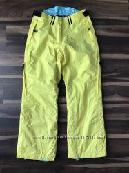 Яркие желтые горнолыжные  сноубордические штаны H&M L. O. G. G. Sport