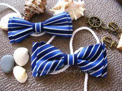 Морской стиль Галстуки-бабочки в полоску и в горошек метелики
