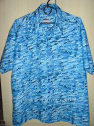 Мужская фирменная рубашка в классных рыбках Angelo Litrico