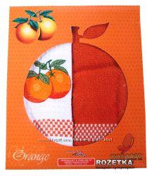 Набор полотенец для кухни Mariposa Апельсин 45х70 2 шт махрвафля