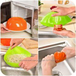 Многофункциональный силиконовый  друшлаг  крышка для кухни