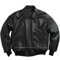 Кожаная летная куртка LEATHER CWU 45P FLIGHT JACKET Alpha Industries США