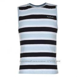 Коттоновые футболки-безрукавки, четыри модели, бренд Pierre Cardin,