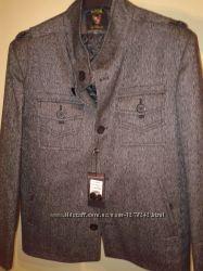 Стильна чоловіча демісезонна куртка-піджак   XL