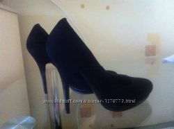 Туфли замшевые женские