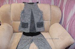 Коттоновый комплект для беременной туника  бриджи
