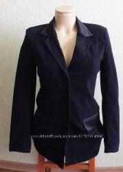 Пиджак офисный р. 10 спандекс черный приталенный удлиненный школьный
