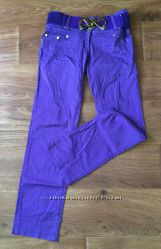 Брюки BSZZ разм. 7 фиолетовые котон с ремнем