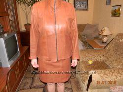 кожаный костюм 48р