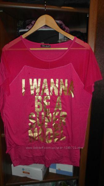 футболка малина