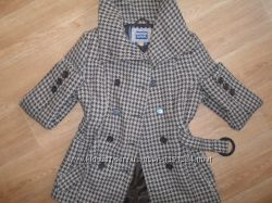 Симпатичное теплое пальто гусиные лапки