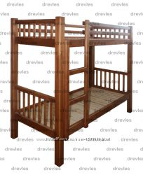Кровать деревянная двухъярусная односпальная  Кд-1