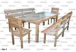 Набор мебели деревянный  Нм-7