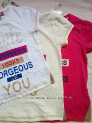 Супер Яркие футболки на девочек Три расцветки Разные размеры