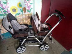 Продам очень удобную коляску для двойни Peg Perego Duette