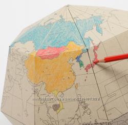 Глобус - познавательная игрушка - конструктор - пазлы