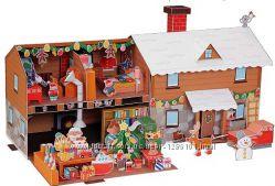 Дом Санта Клауса объемная модель своими руками