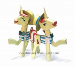 Вырезалки или полезные игрушки-лошадки Пони из мультика ЧАСТЬ 3