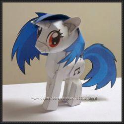 Вырезалки или полезные игрушки-лошадки Пони из мультика ЧАСТЬ 1