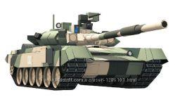 Танк Т-90 из бумаги