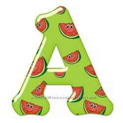 Азбука фруктовая, алфавит Буквы-мыши