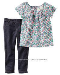 Котоновый комплект Carters для девочки на 24 месяца