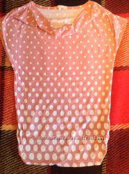 Футболка для беременых розовая в горошек, размер L