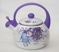 Чайник эмалированный со свистком 2. 2 л