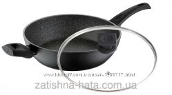 Сковорода глубокая с крышкой 28x7 см, BERGNER BG 6591-BK