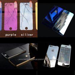 Цветное зеркальное стекло пленка на iPhone Все цвета