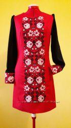 94c3b4dfafbfb2 Жіноча вишиванка червоно-чорна, 1562 грн. Женские платья купить ...