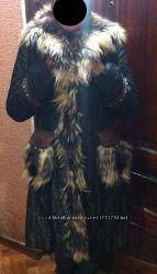 Продам красивое зимнее пальто с мехом чернобурки