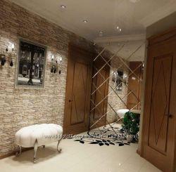 Зеркальная стена, панно, плитка, колонны
