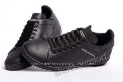 Мужские кожаные кеды Guess Los Angeles M - 67 черные