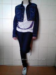 ультрамодный, крутой укороченный джинсовый жакетпиджак Suzy-Q