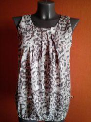 Красивая легкая блуза в леопардовый принт