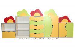Стенка детская для игрушек Цветочная поляна