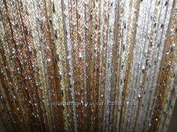 Шторы нити с люрексом радуга дождь 3х3