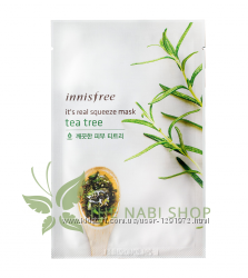 Тканевые маски INNISFREE Its Real Squeeze Mask 20ml
