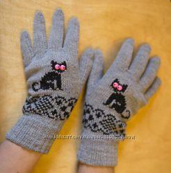 Перчатки с узором