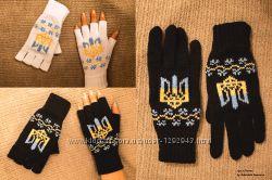 Беспалые перчатки с узором