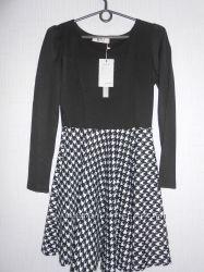 Новое  чёрно-белое платье STYLE fashion design размер М