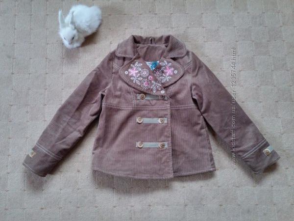 Легкая вельветовая курточка 4-5 лет
