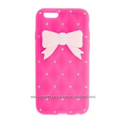 Claires pink 3d case - новый, для iPhone 6, 6 plus