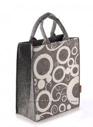 Женская сумка с трафаретним рисунком из войлока модель  26-1