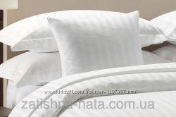 Постельное белье страйп-сатин белый