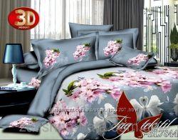 ТМ TAG Комплект постельного белья 3Dполисатин