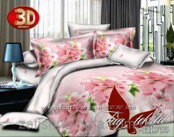 ТМ TAG Комплект постельного белья 3D полисатин