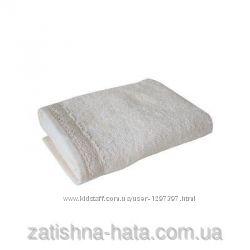 Полотенце Махровое 40х70см белое с кружевом ТМ Прованс