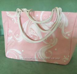 Летняя пляжная розовая сумка